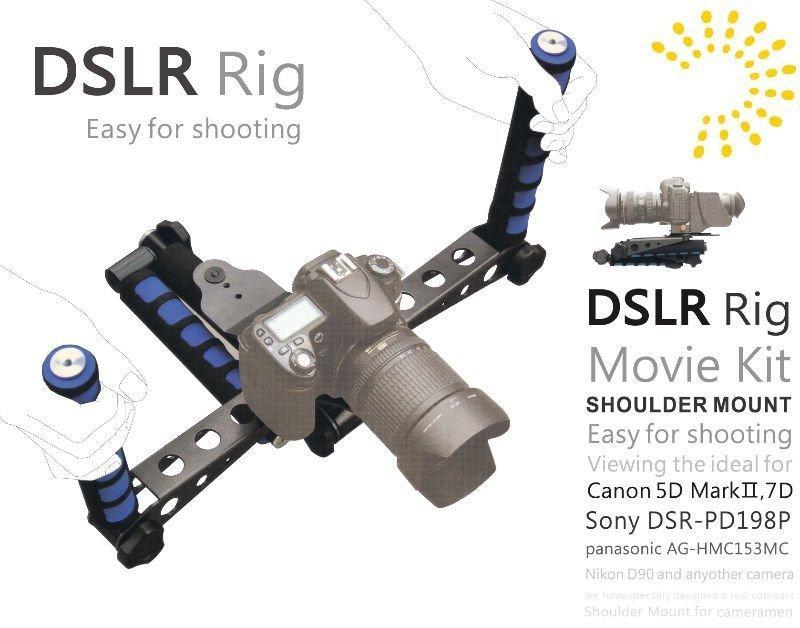 Freeshipping DSLR Anlage-ursprünglicher Filminstallationssatz-Schulter-Einfassungs-Foto-Studio-Zusätze für irgendeinen Kamerarecorder DV Kamera Canon Sony Nikon Panasonic