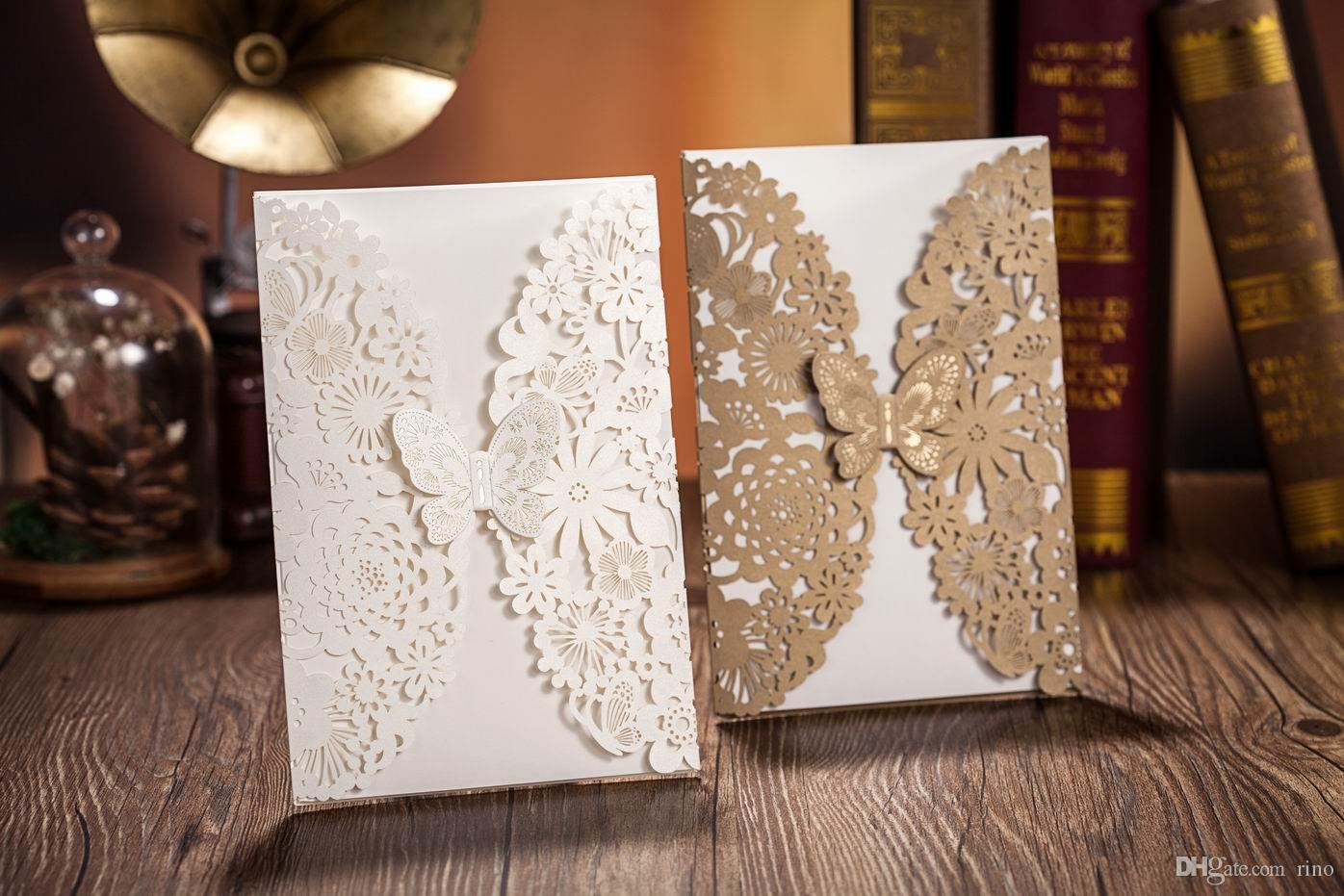 cheap wedding invitation printing butterfly wedding invitations wedding invitations laser cut customised invitation cards wedding card free fold gift cards cheap print invitation card new arrival