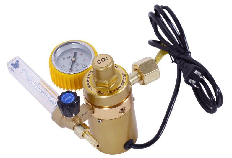 Freeshipping 220V CO2 Pressure Reducer CO2 Regulator Welder Reducing Valve Welding Regulator