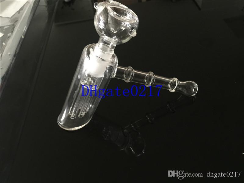 새로운 유리 망치 6 팔 퍼크 유리 여과기 버블 러 물 파이프 매트릭스 18mm 담배 파이프 담배 파이프 봉지 샤워 헤드 퍼크 두 가지 기능