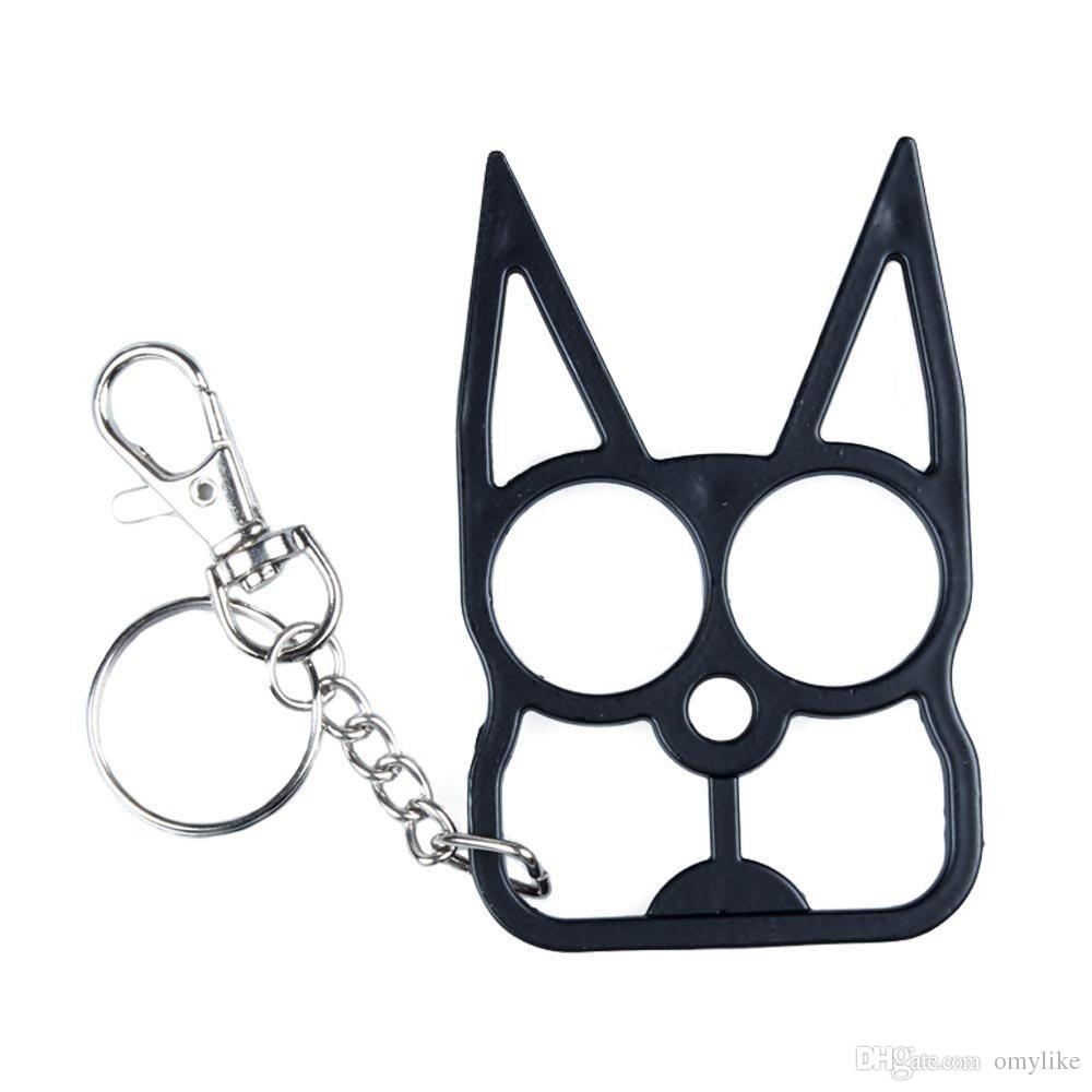New Self Defense Novelty Keychain Black The Cat Personal Safety Keychain Key Ring Keyring From Omylike 17 09 Dhgate Com