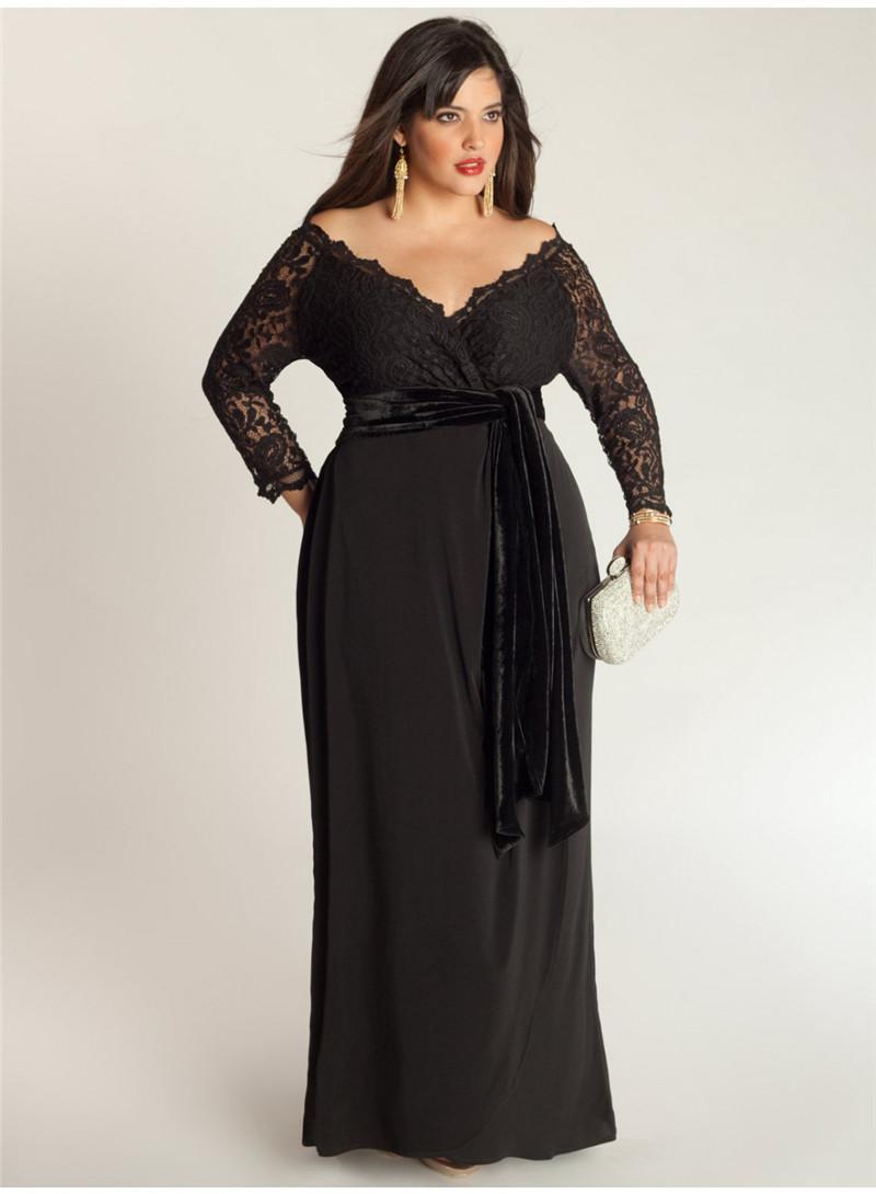 Black Plus Size Special Occasion Dress