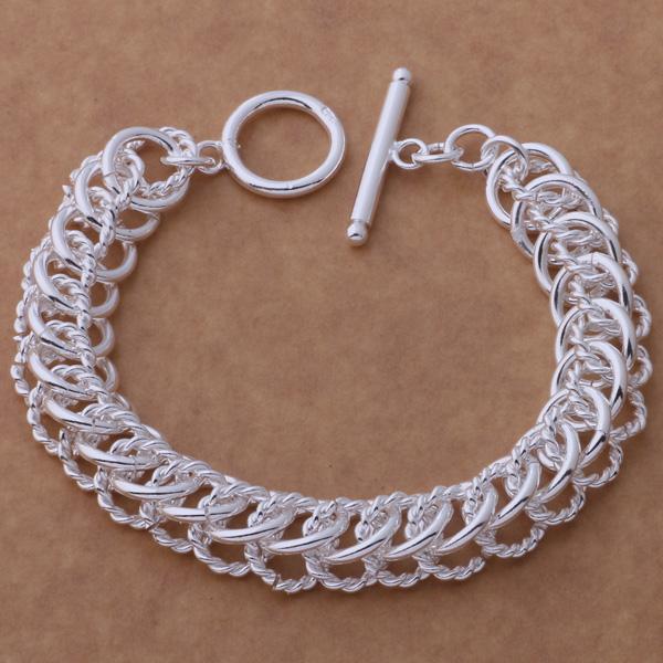 Fashions (fabricante de la joyería) 925 Sterling Silver multi circle link Pulseras joyería de moda Pulseras joyería precio de fábrica