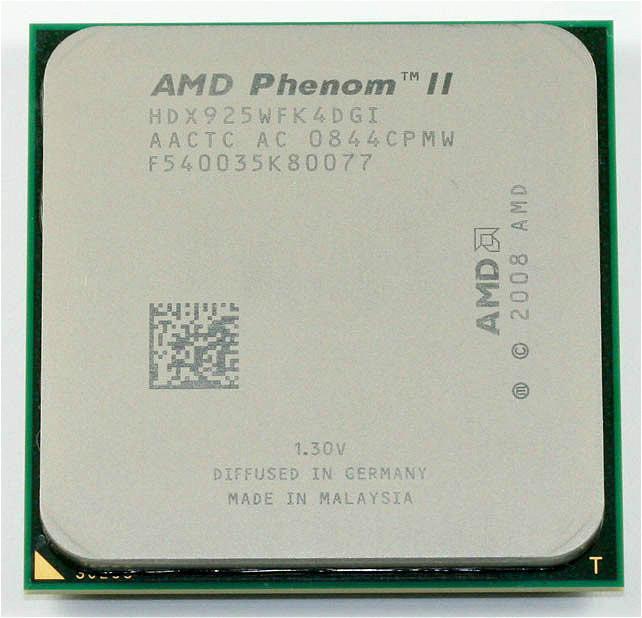 Processeur AMD Phenom II X4 925 2.8GHz 6Mo Socket de cache L3 AM3 Quad-Core pièces dispersées cpu