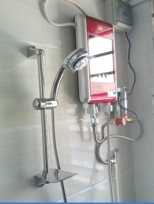 ... 379 Electric Shower Set Constant Temperature Electric Water Heater  Instant Tankless Bathroom Shower 7.5 KW Water ...