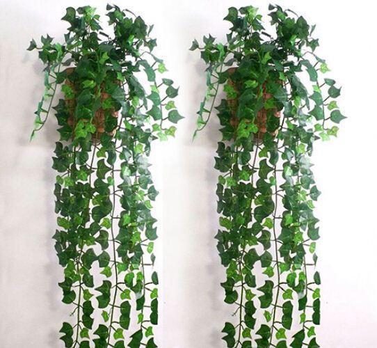 2.5 M long Simulation Ivy Rattan Artificial Ivy Leaf Garland Plants Vine Fake Foliage Flowers Vine Home Decor 30m/lot free shipping
