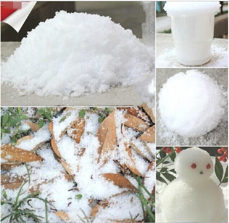 2015 Christmas Decoration Instant Snow Magic Prop DIY Instant Artificial Snow Powder Simulation Fake Snow For Night Party 10G/Bag