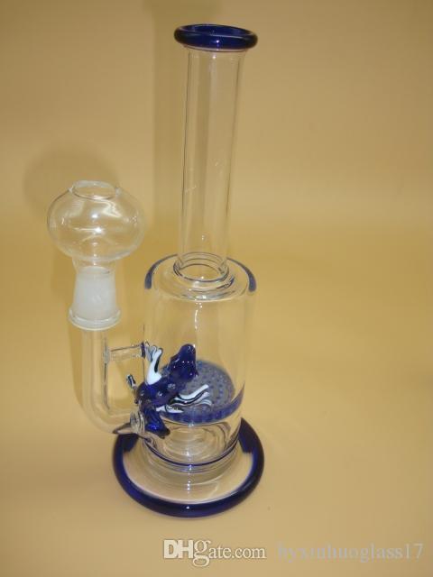 h: 22 cm bongos de vidro de vidro bongos de vidro de vidro com 14mm conjunta branco frete grátis