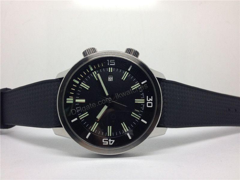 최고 품질의 남성의 스포츠 시계 기계식 자동 시계 고무 스트랩 손목 시계 블랙 다이얼 039
