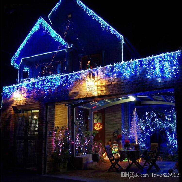 工場ダイレクトセール10m * 0.5m 320ledライト点滅車線LEDストリングランプカーテンの不正なクリスマス祭り110-220V EU UK US AUプラグ