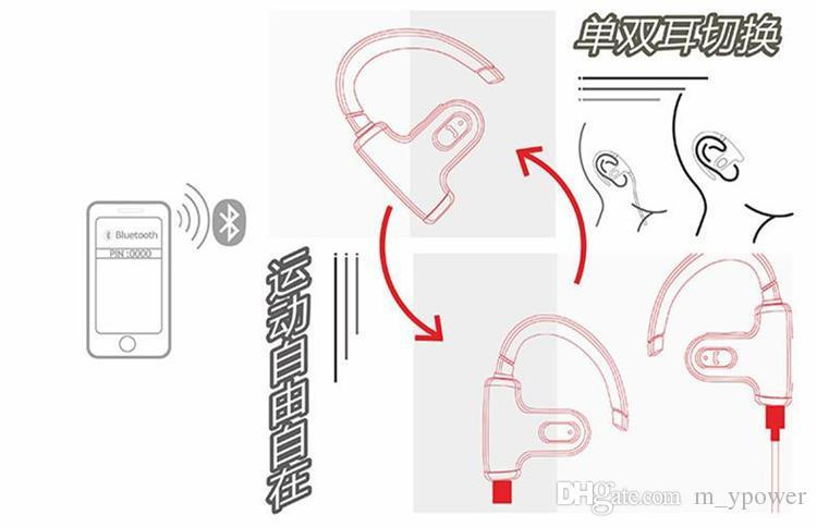 스포츠 이어폰 무선 블루투스 헤드셋 러닝 이어폰 쿨 스포츠 스테레오 Auriculares Casque Cuffie Fones De Ouvido with Mic 무료 DHL