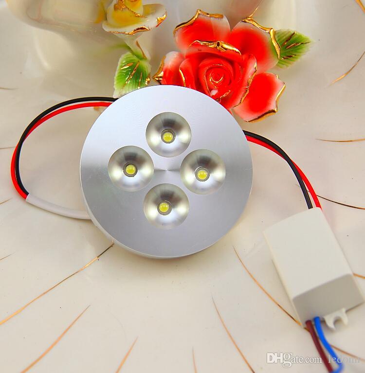 4X1W AC85-265V LED Koboldlicht für Kabinettschaukastenanzeigen-Gegenstab beleuchtet Handelsbeleuchtung 13mm ultra-dünnes Aluminiumoberteil 10pcs / lot