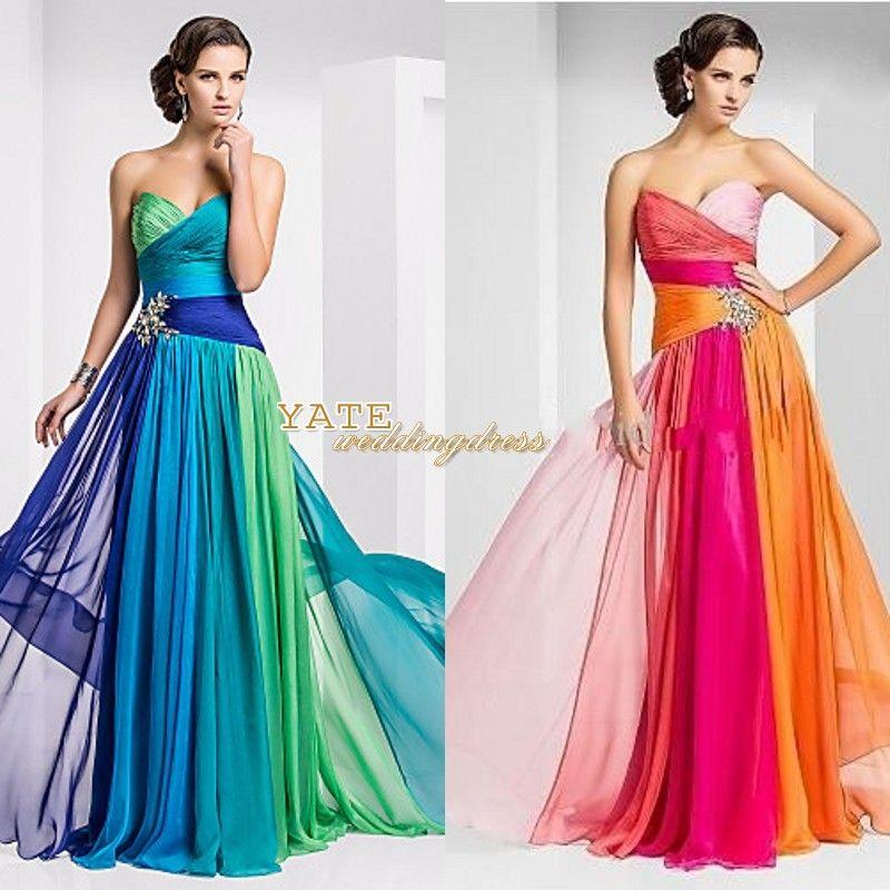 Multi Colored Chiffon Dresses