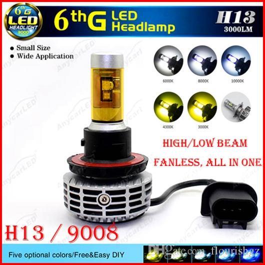 2x 80W 7200LM LED headlight Kit H13 9008 Hi//low Beams 6000K XENON White bulbs