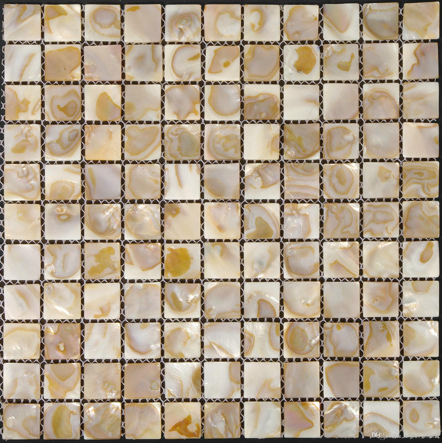 25x25mm 1x1 inch Natural Mother of pearl tile backsplash fresh water shell mosaic bathroom tiles MOP019