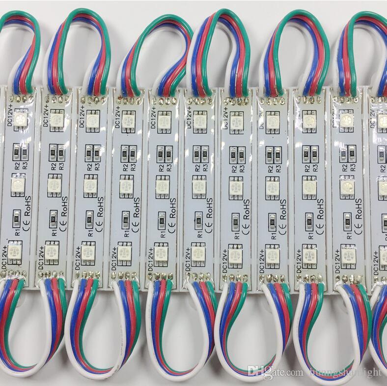 الحرة الشحن RGB بقيادة وحدة 12v IP65 وحدة الضوء 5050 مصلحة الارصاد الجوية 3 الصمام وحدة مصباح الإضاءة 12V CE بنفايات