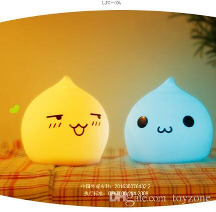 Friendly Cute Rabbit LED Night light Sleep Lamp Touch Sensor Lights Children's Toys Christmas Birthday Gifts