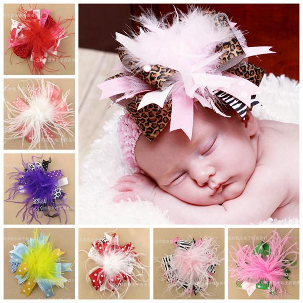 Christmas Hair Bows For Toddlers.Baby Big Christmas Hair Bows Fur Flowers Hair Accessories Animal Ribbon Bow Headbands For Girls Kids Head Flower Boutique Elastic Hairbands Baby Girl