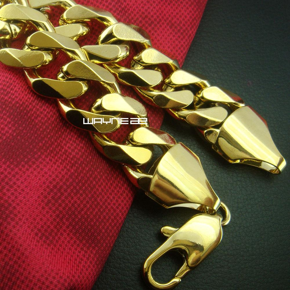 Bracelete de ouro 18k masculino pesado pulseira 23cm Comprimento 75g b163