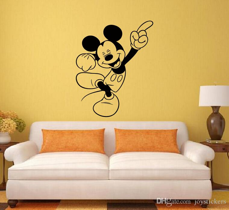 mickey mouse minnie mouse miremovable decal home decor vinyl decal cartoon outline sketch baby room wall - Home Decor Decals