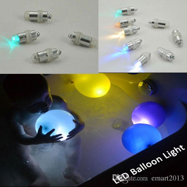 48 pz / lotto bianco caldo sommergibile LED palloncino lanterna carta lanterna luce alimentato a batteria luci per la decorazione della festa nuziale