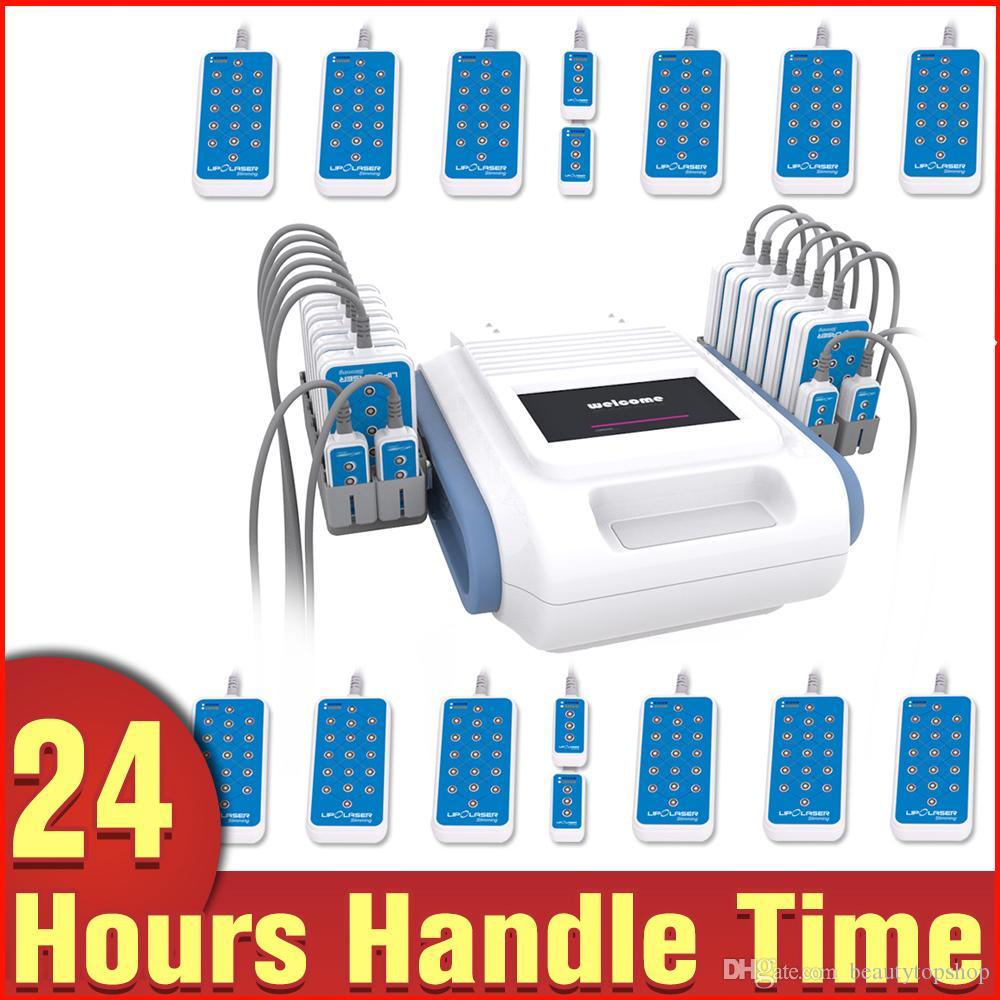 Melhor Remoção Preço corpo emagrecimento Fat Dispositivo duplo comprimento de onda da beleza com 16 Pads 160MW Lipo Laser
