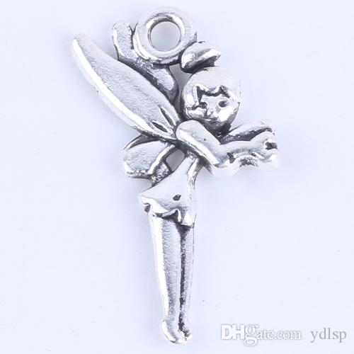 New fashion silver/copper retro fairy Pendant Manufacture DIY jewelry pendant fit Necklace or Bracelets charm 200pcs/lot 5403w