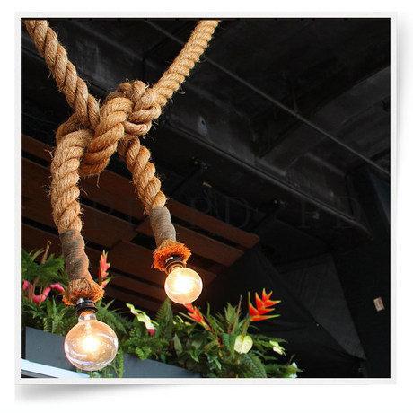 Конопля веревка подвесной светильник бар украшения бронзовый подвесной светильник персонализированные diy ручной работы технологии классические подвесные светильники
