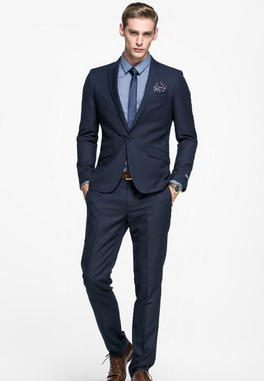 Simple Solid Color Men'S Business Suits Men'S Career Suit Suit ...