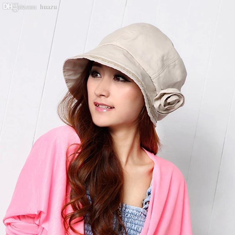 الجملة-الصيف الزهور السيدات القماش قبعة قبعة الشمس قبعة القش قبعة مصنع بقعة الجملة