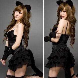 送料無料新しい女性のセクシーなランジェリー送料無料Sexy Pajamasスカートの芽 - ストッキング女性猫女の子バニーウサギスーツ制服誘惑