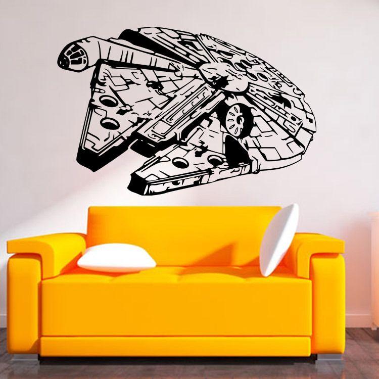 Star Wars Wall Stickers Millennium Falcon Fight Home decor DIY ...