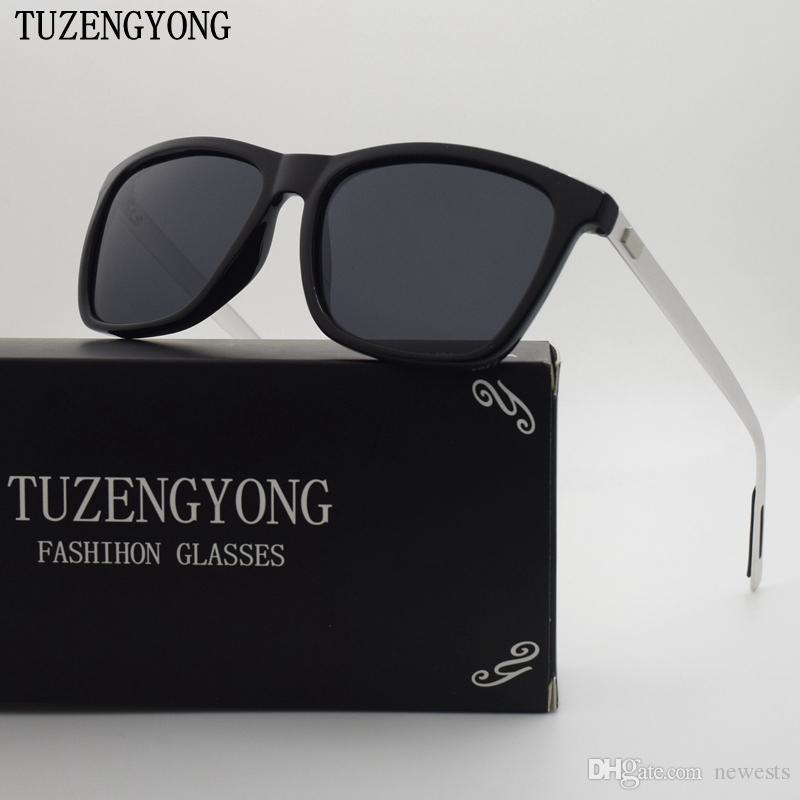 Tuzengyong ماركة للجنسين ريترو الألومنيوم + tr90 النظارات المستقطبة خمر النظارات الملحقات نظارات الشمس للرجال / نساء T6108