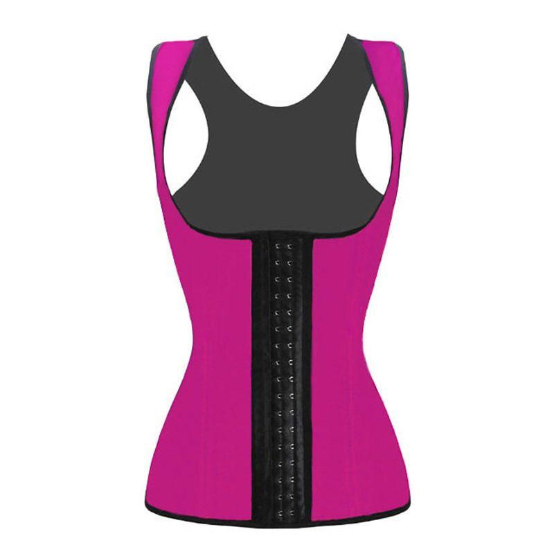 Rubber Vest Latex Corset Women Waist Training scorsets shapers Body sculpting clothing 4 Steel Bones Underbust Shapewear