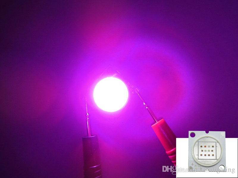 12W - 24W البوليفيين Epileds 45MIL 1PCS 430NM الأشعة فوق البنفسجية + 3PCS 630NM الأحمر + 2PCS 460NM الأزرق + 6PCS 660NM العميق الأحمر الصمام رقاقة ضوء 28-35V 350-700MA 15 قطعة / الوحدة