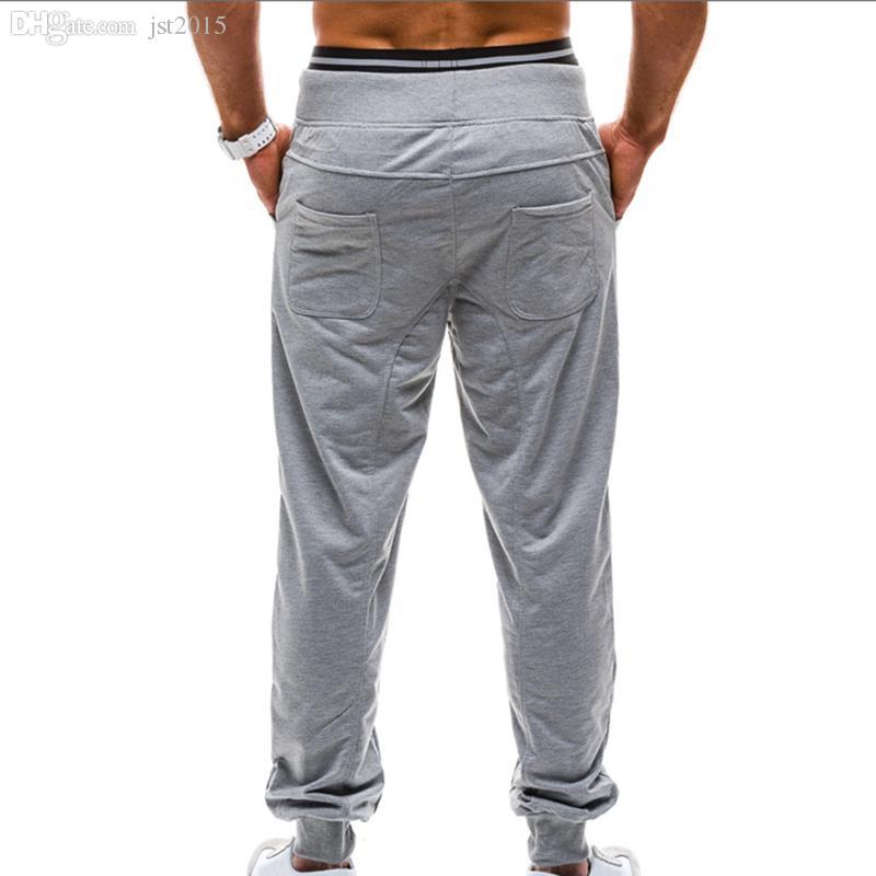 도매 - 2016 새로운 망 패션 배 긴 스웨트 팬츠 힙합 하렘 스웨트 바지 남성 캐주얼 솔리드 스포츠 조깅 바지 Pantalon Homme 13M0472