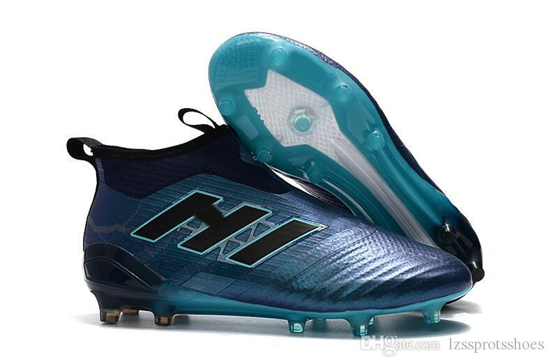 new cheap good out x buy good 2019 2019 ACE 17+ Purecontrol FG Thunder Storm Football Soccer Boots No  Lace Mens Soccer Cleats High Ankle Top Soccer Shoes De Futbo SHOESl From ...