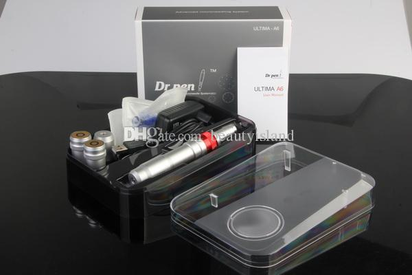 Micronedling-therapie Elektrische MicroneDle Derma Pen Oplaadbare Dr Pen Ultima A6 Dr.Pen Anti Aging met 50 stuks Gratis Needles Head