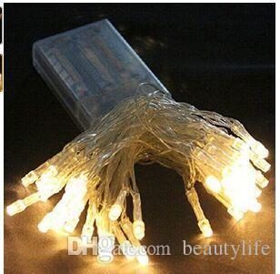10 м 80 светодиодов батареи огни красочные светодиодные 3aa батареи строка огни рождественские украшения Фея свет