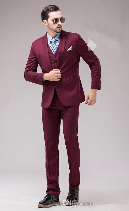 New Arrival -- New Design Haut One Button Notch Lapel Groom Tuxedo ...