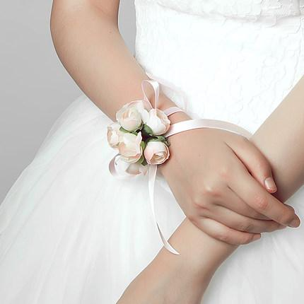 cheapest in stock korean wedding bridesmaid flower jewelry bracelet bridesmaid hand wrist flower wedding party accessories free shipping shj - Cheapest Wedding Rings