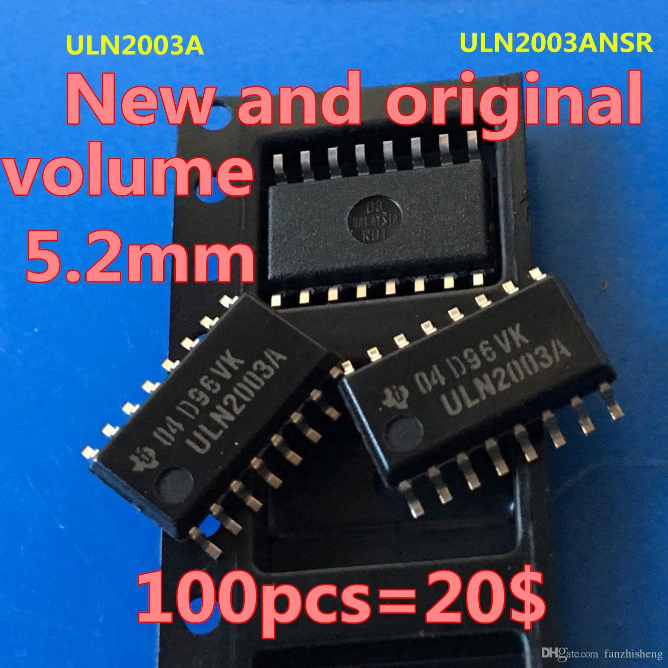 100PCS neues und ursprüngliches SOP16 ULN2003A ULN2003ANSR Volumen 5.22mm Der Ursprung eines Produktes ist Malaysia