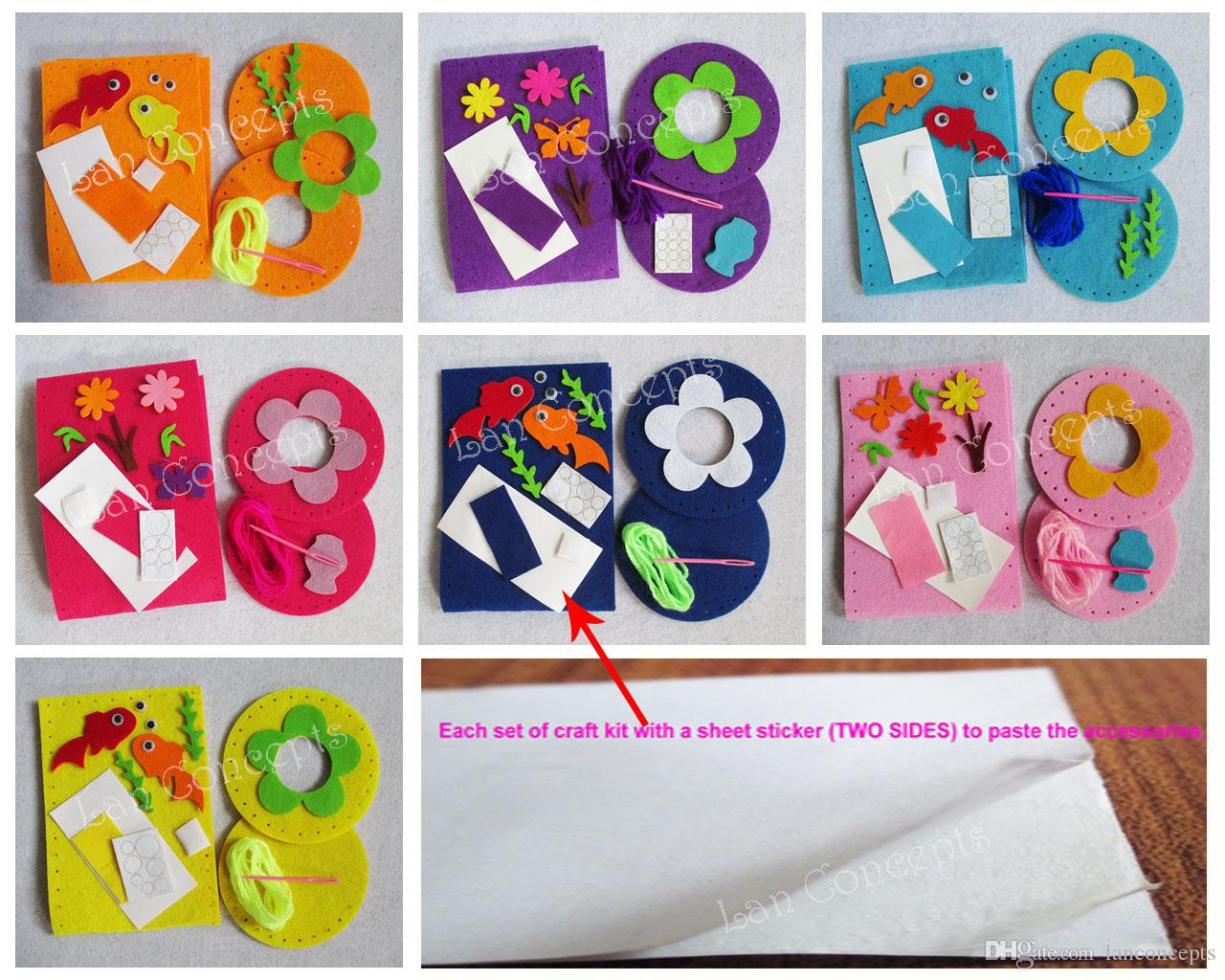 Craft kit for kids - Children Gift Diy Craft Kit Felt Tissue Toilet Paper Holder With Non Woven Sheets