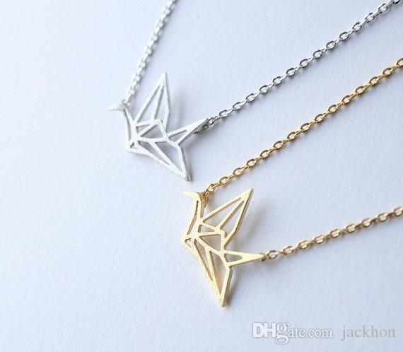 Origami Crane Necklace on Storenvy | 498x570