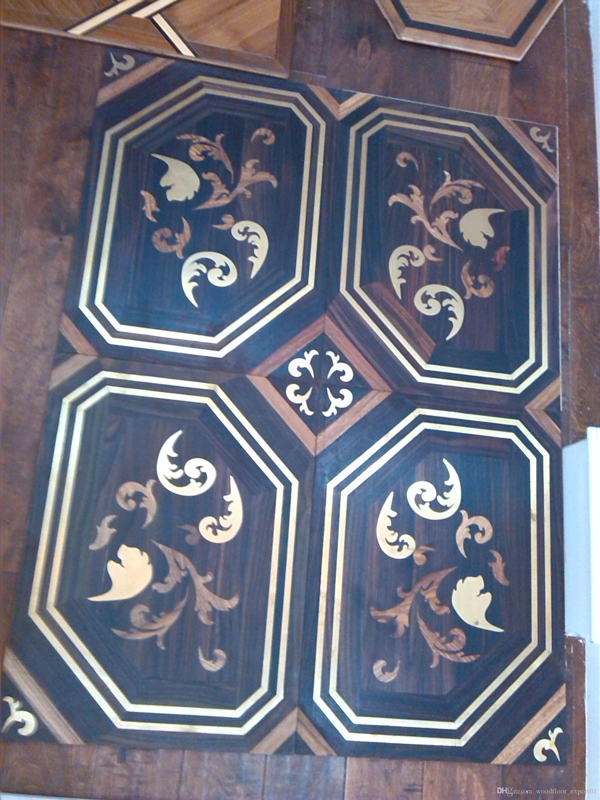 Mosaic floor Combinat Design House floor Jade inlaid wood floor Shell wood flooring Oak floor Floor finishes customPrivate custom wood floor