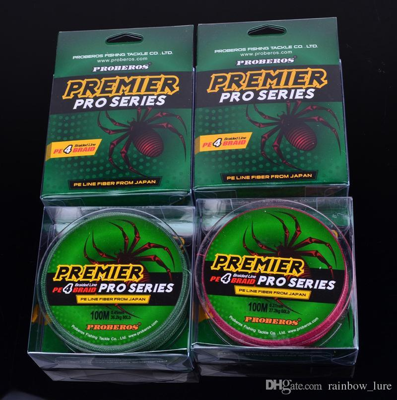 PREMIER PRO Series Braid Fishing Line 4 Strand Spectra lines 100m PE Fiber From Japan 15lb~80lb