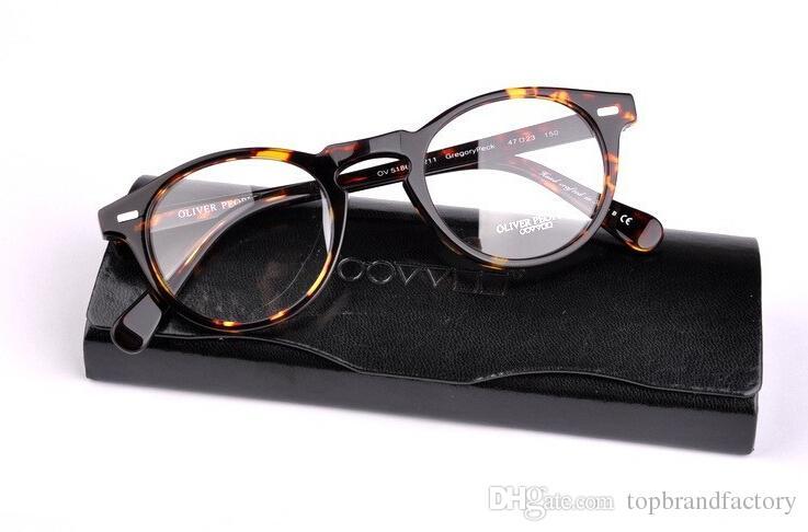 2016 Uomini Occhiali da vista Frame OV5186 Gregory Peck Occhiali da vista Donne Miopia montatura per occhiali con custodia
