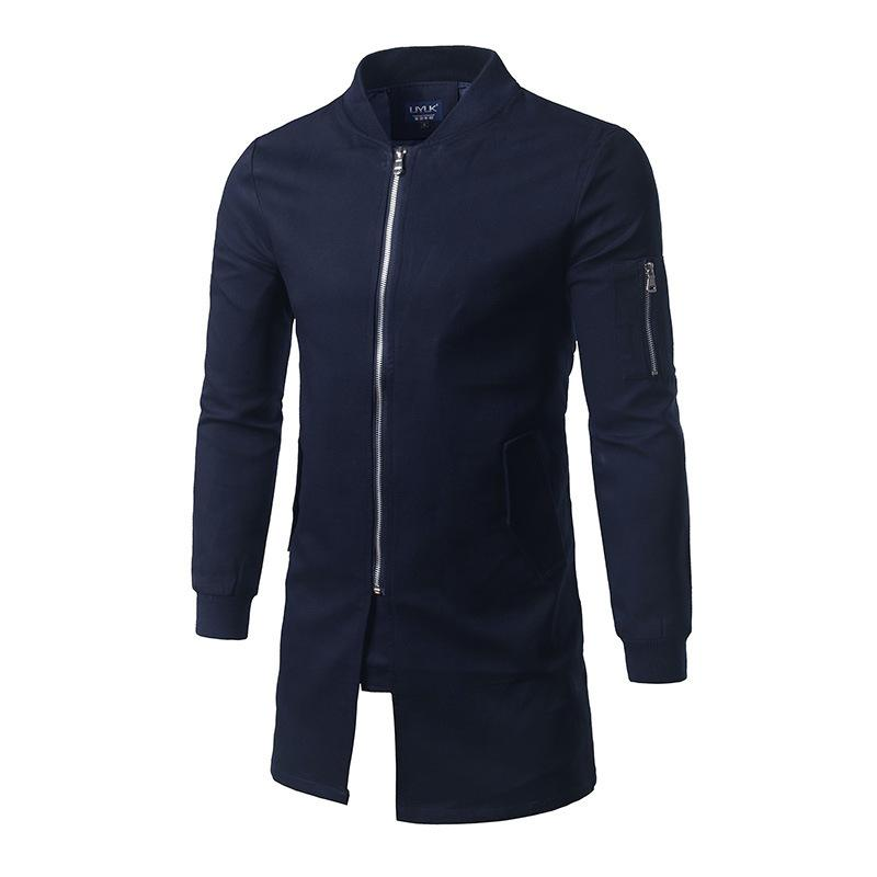 Wholesale- Hot Sale 2017  Casual Male Windbreaker Man Trench Coat Jacket Men Spring Autumn Style Quality Overcoat Clothing