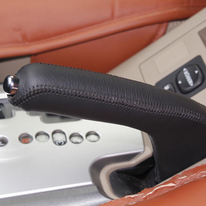 لتويوتا rav4 2009 ~ 2012 غطاء فرملة اليد جلد طبيعي ديي سيارة التصميم الديكور الداخلي لوازم السيارات