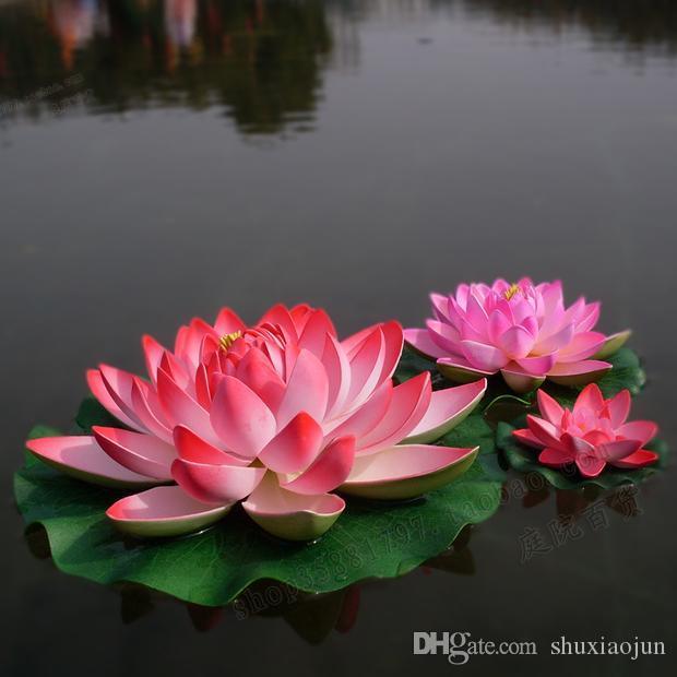 Новое прибытие искусственные украшения моделирование Лотос Аквариум воды бассейн цветок для свадьбы украшения домашнего декора 28 см диаметр